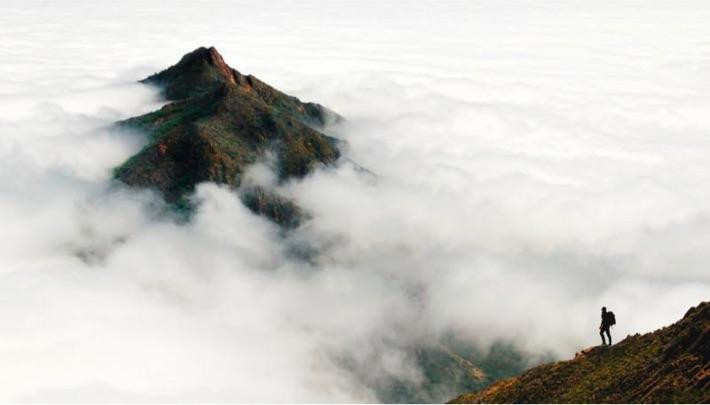 Vuoret pilvien lomassa